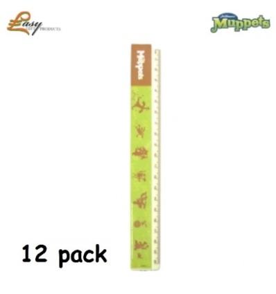 Muppet 20cm Ruler - 12Pk