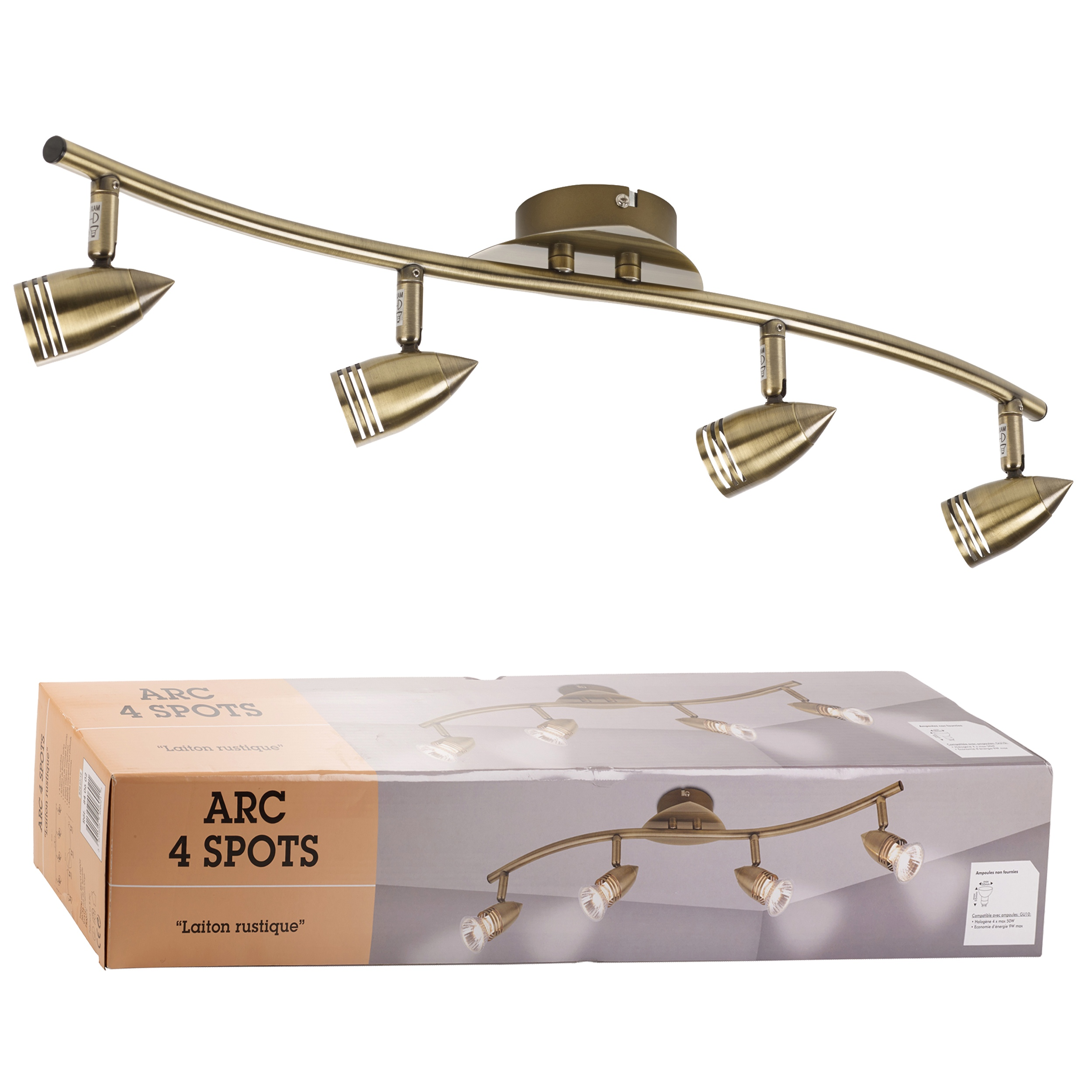 Bathroom Lights Gu10 4 spots adjustable ceiling light bar wavy spotlights lighting gu10