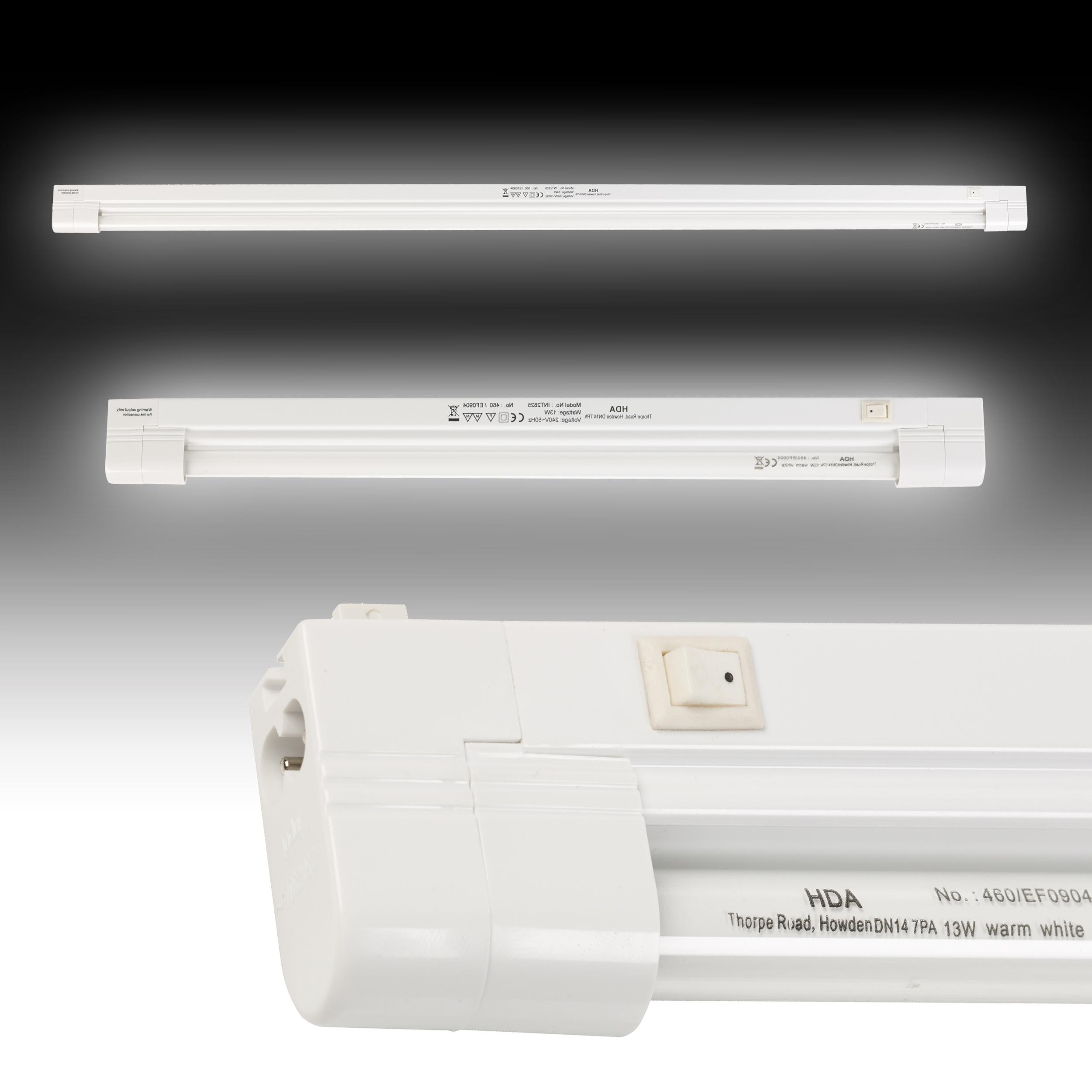 Linkable T5 Fluorescent Batten For Use Under Kitchen Cabinets: 460mm 13W Fluorescent T5 Tube Link Light Strip Slimline