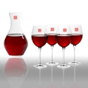 RCR Carafe & 4 Red Wine Glasses [Toscana]