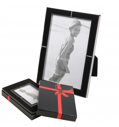 Diamante Black Photograph Picture Frame