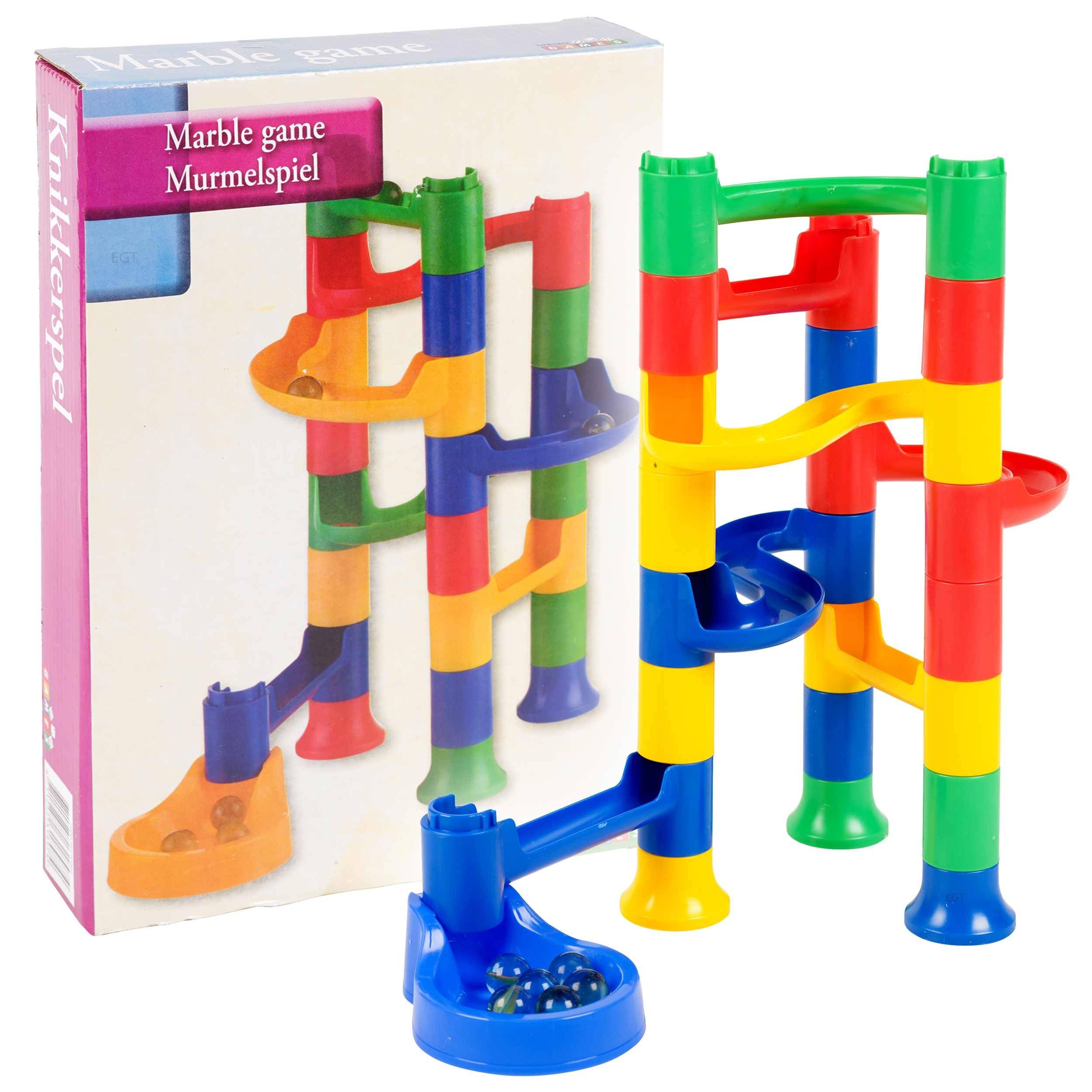 Construction Toys Product : Kids marble run race construction kit childrens toy
