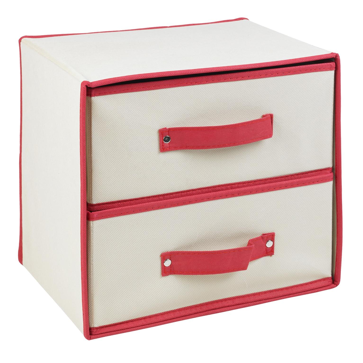 klappbar stoff 2 schubladen aufbewahrungsboxen beh lter bohrerspitzen bobs ebay. Black Bedroom Furniture Sets. Home Design Ideas