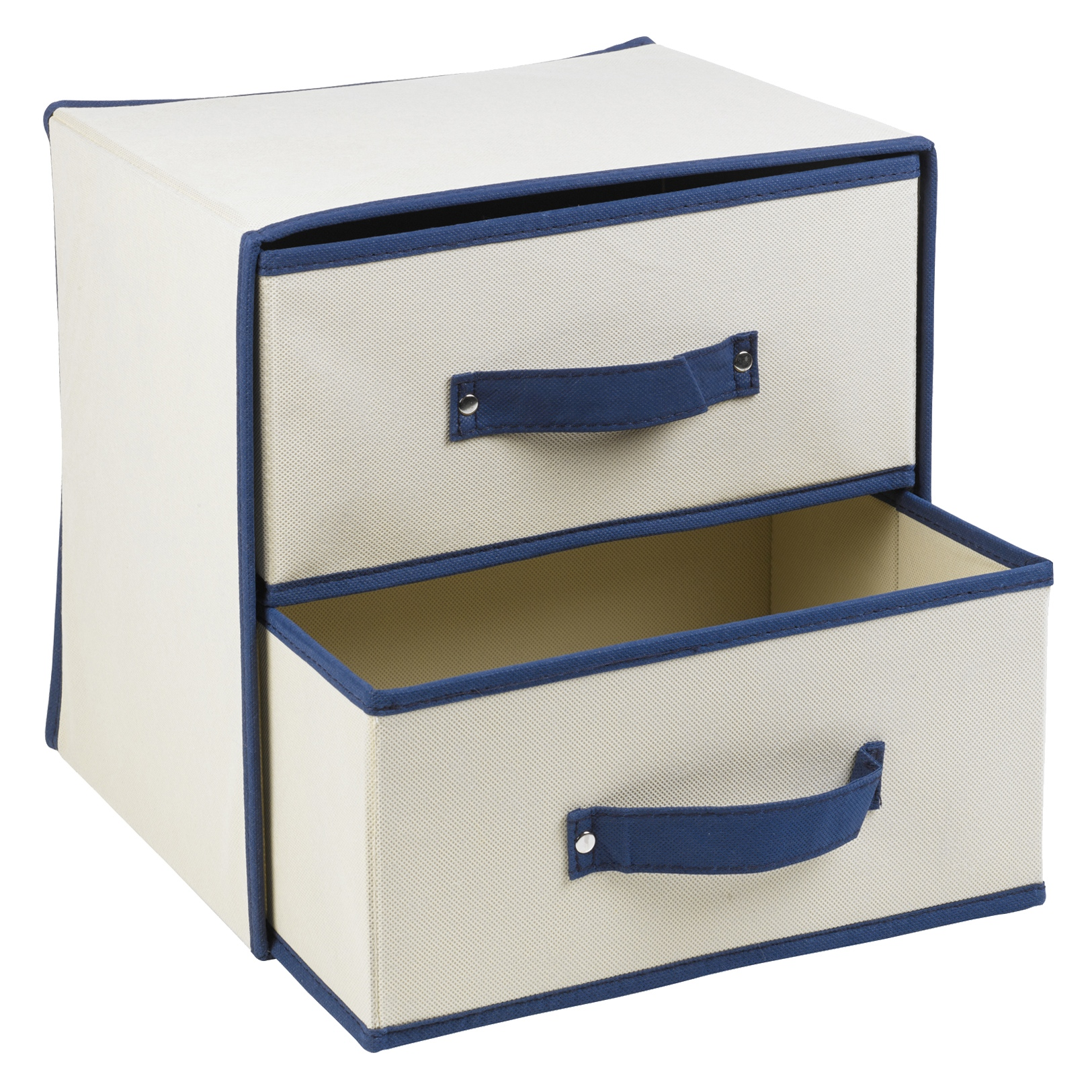 New Non Woven Fabric Folding Underwear Storage Box Bedroom: Collapsible Fabric 2 Drawer Storage Boxes Containers Bits
