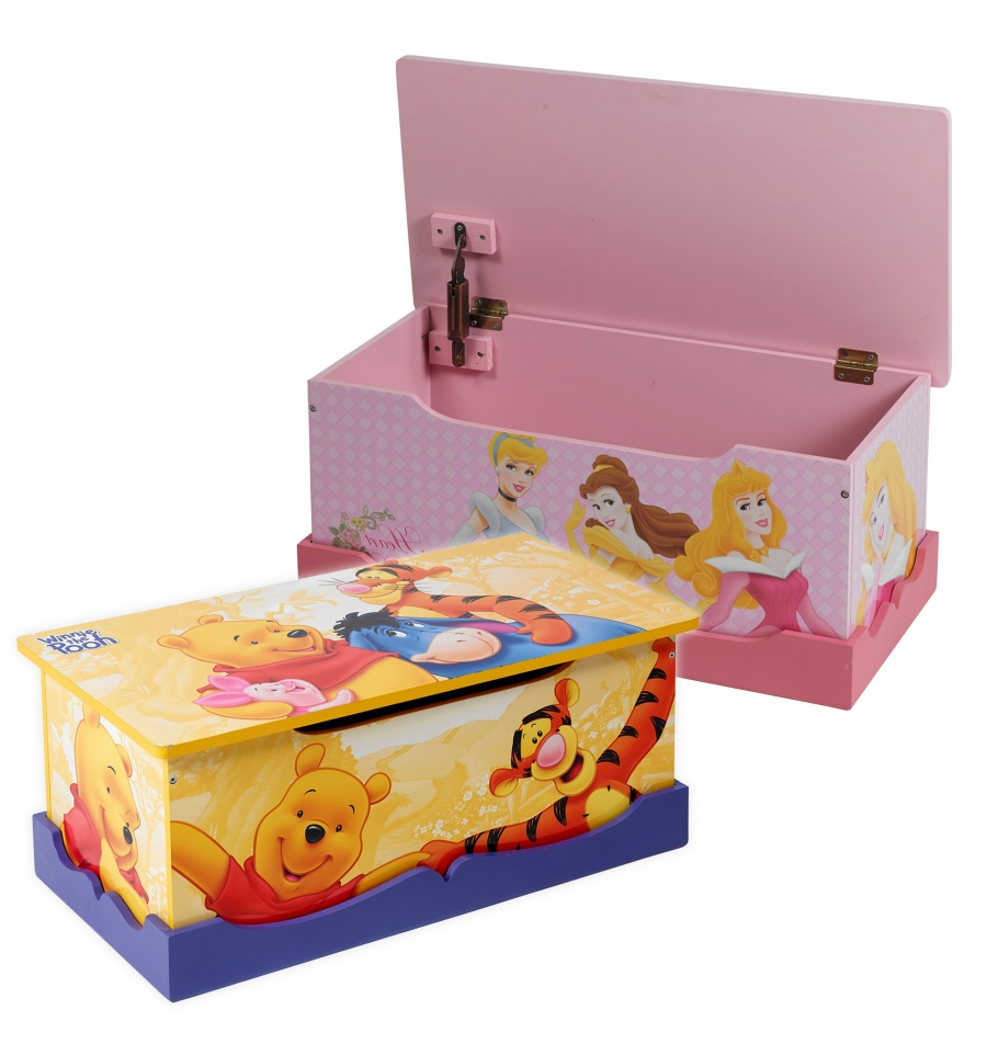 Kids Collapsible Ottoman Toy Books Box Storage Seat Chest: Toy Box Winnie The Pooh [JE7050020] [791115]