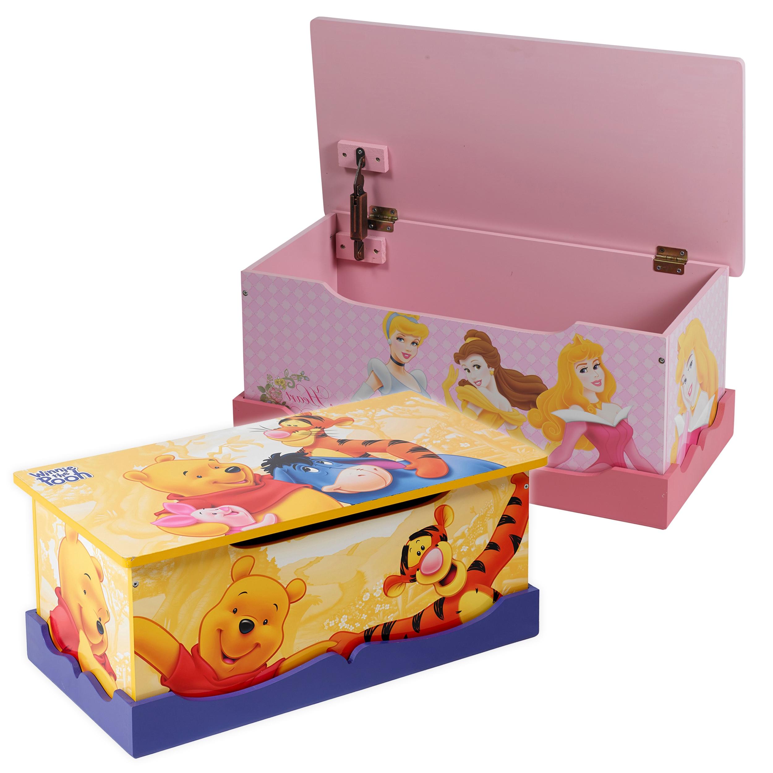 Disney MDF Wooden Chest Toy Storage Box Ottoman Seat Bedroom Furniture ...