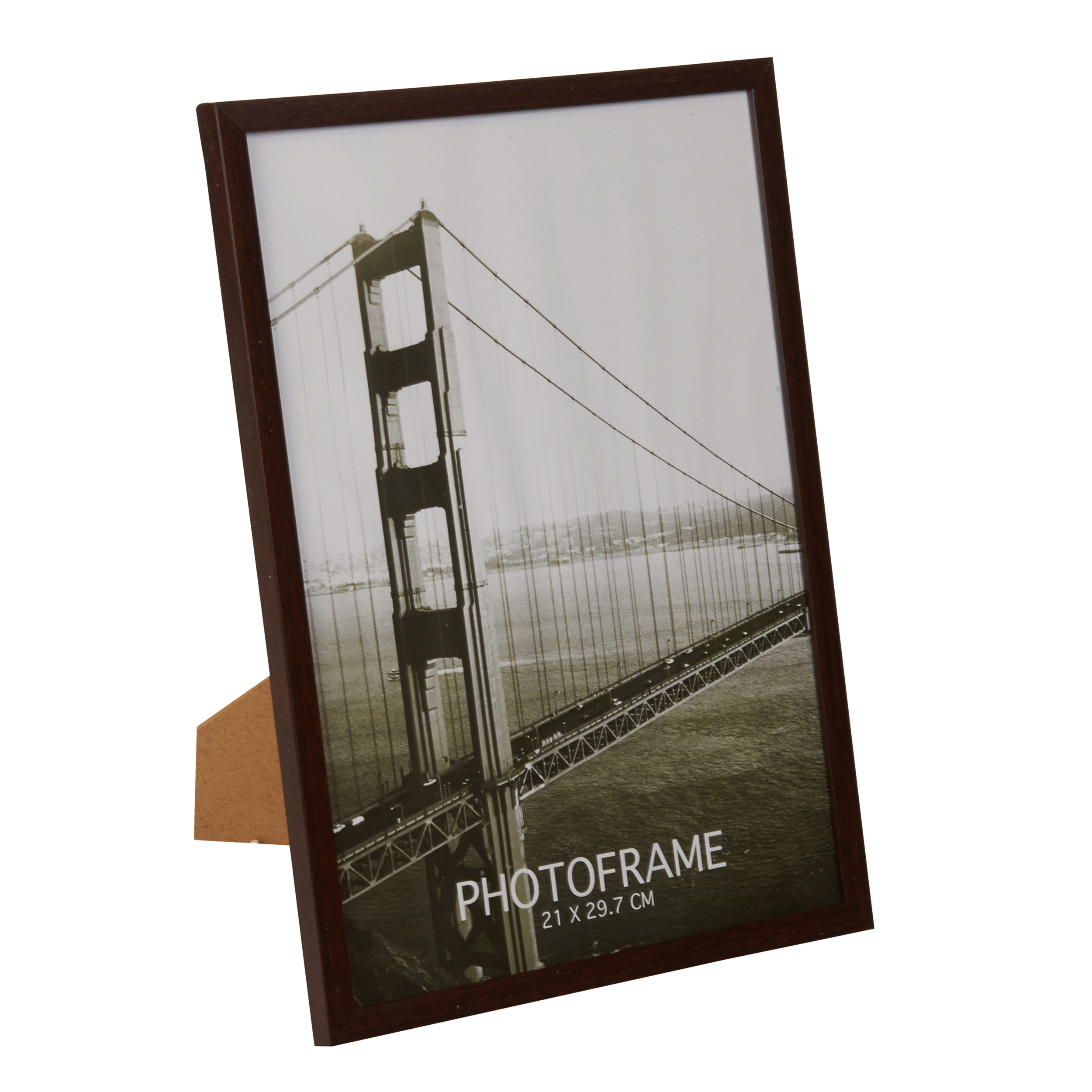 Wood Look Picture Photo Frame Aperture Free Standing Wall Mountable ...