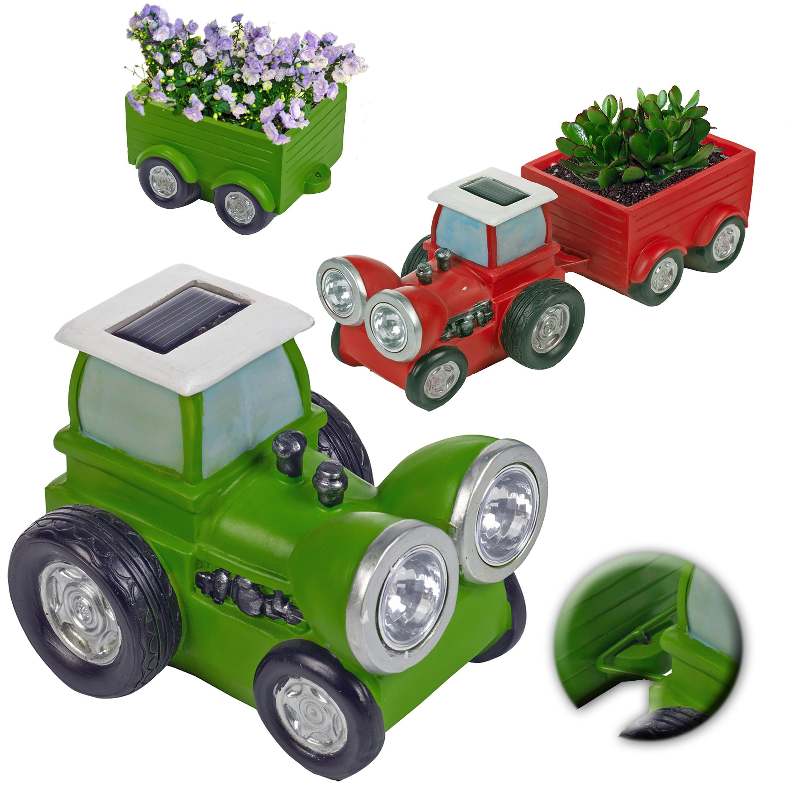 Led Lights For Lawn Tractor : Solar powered garden tractor led headlight light lamp trailer planter flower bed ebay