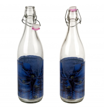 Denim Style Bottle with Swing Top [433510]