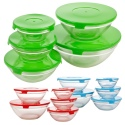 5pc Glass Bowl Set with Coloured Lid [578373/705212/783697]