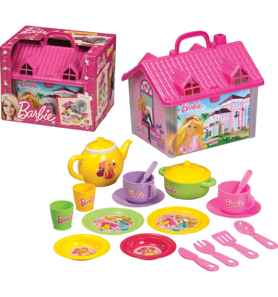 Barbie Tea Set In House