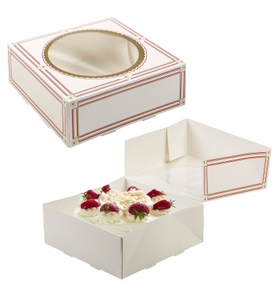 Classic Cake Presentation Boxes With Windows [B/5001704]