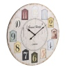 60cm Round Shabby Wall Clock Number Design [188916]