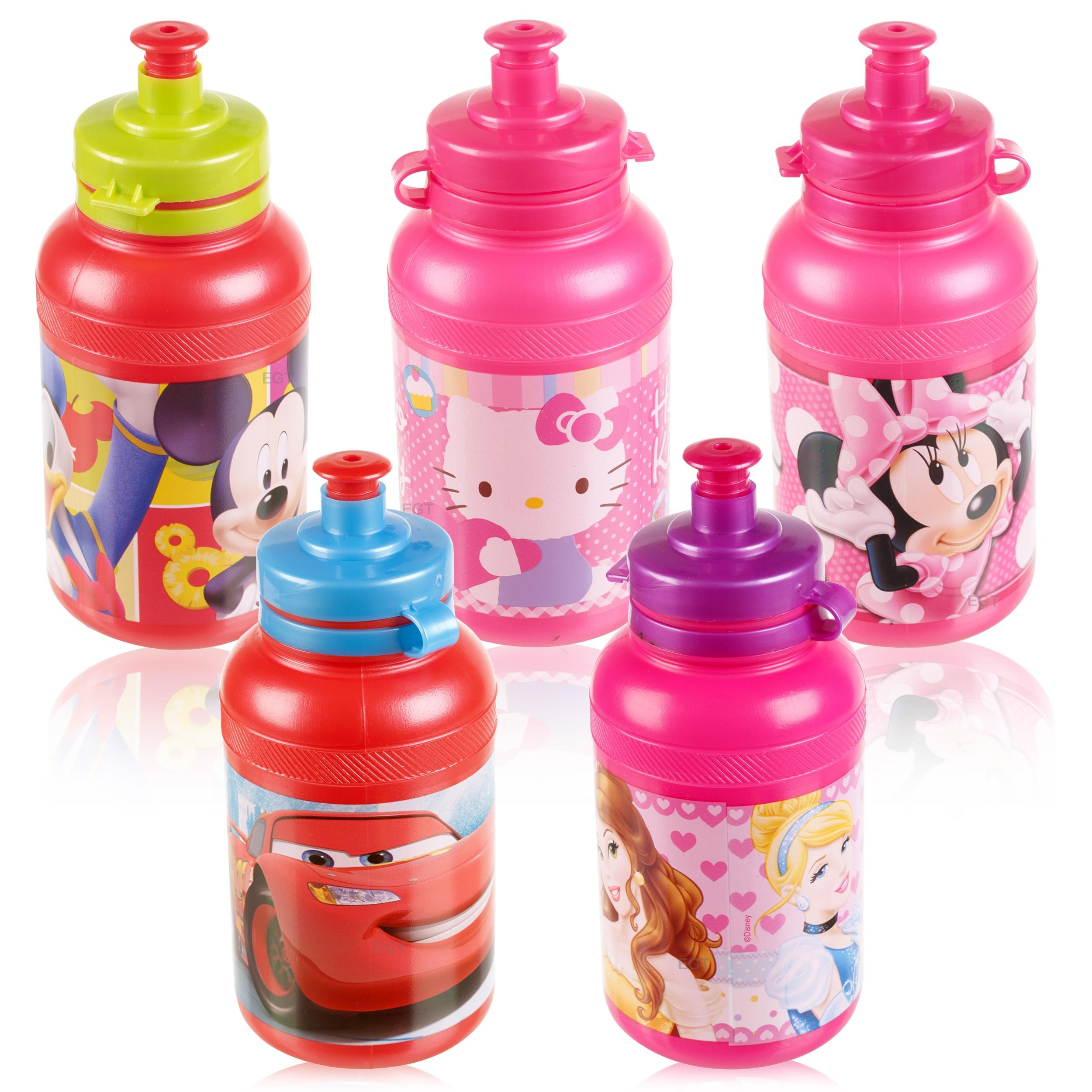 Best Sports Bottle Uk: Kids 400ml Disney Non Drip Spill Sports Pull Top Lid