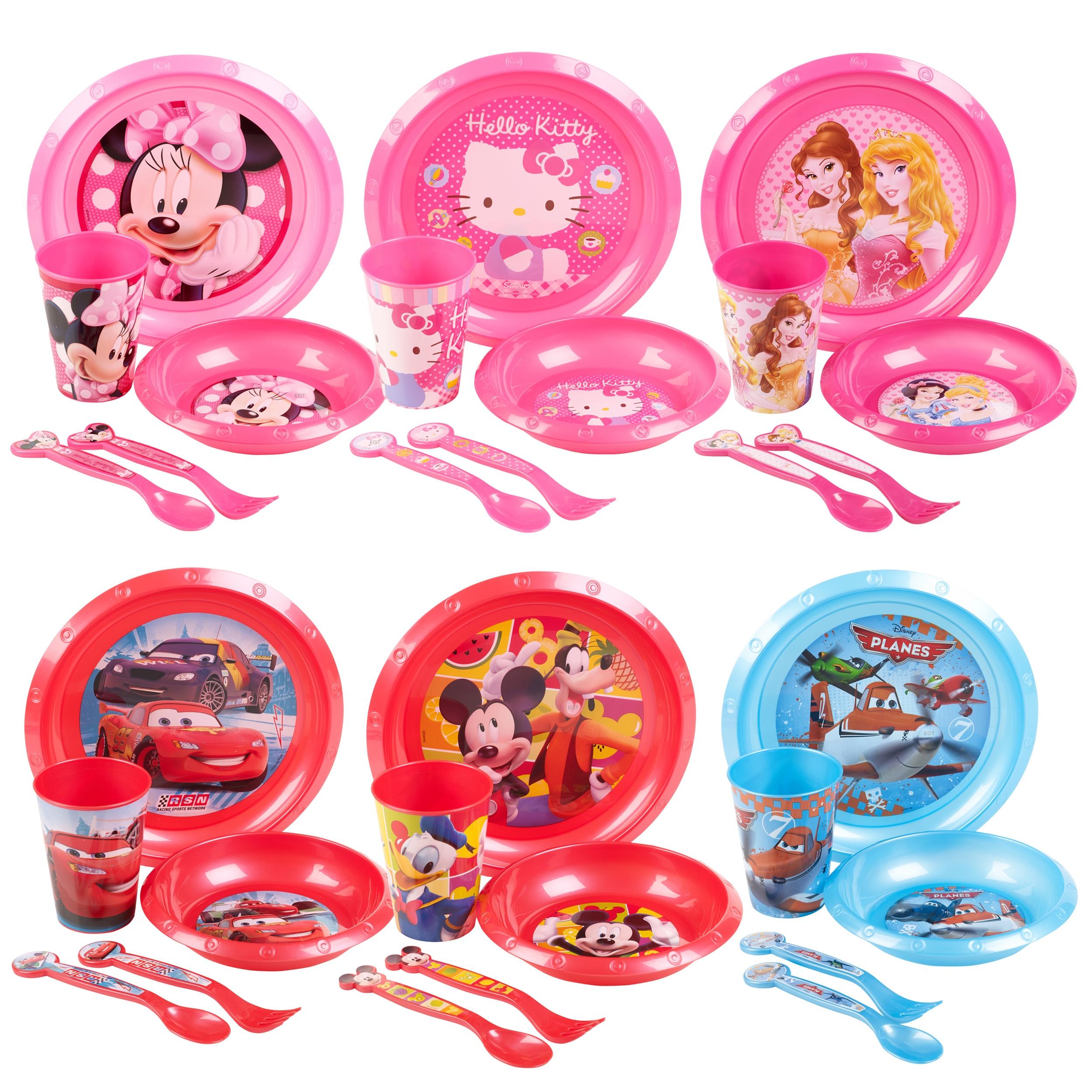 Kids 5 Piece Disney Breakfast Lunch Dinner Supper Plate Bowl Cup