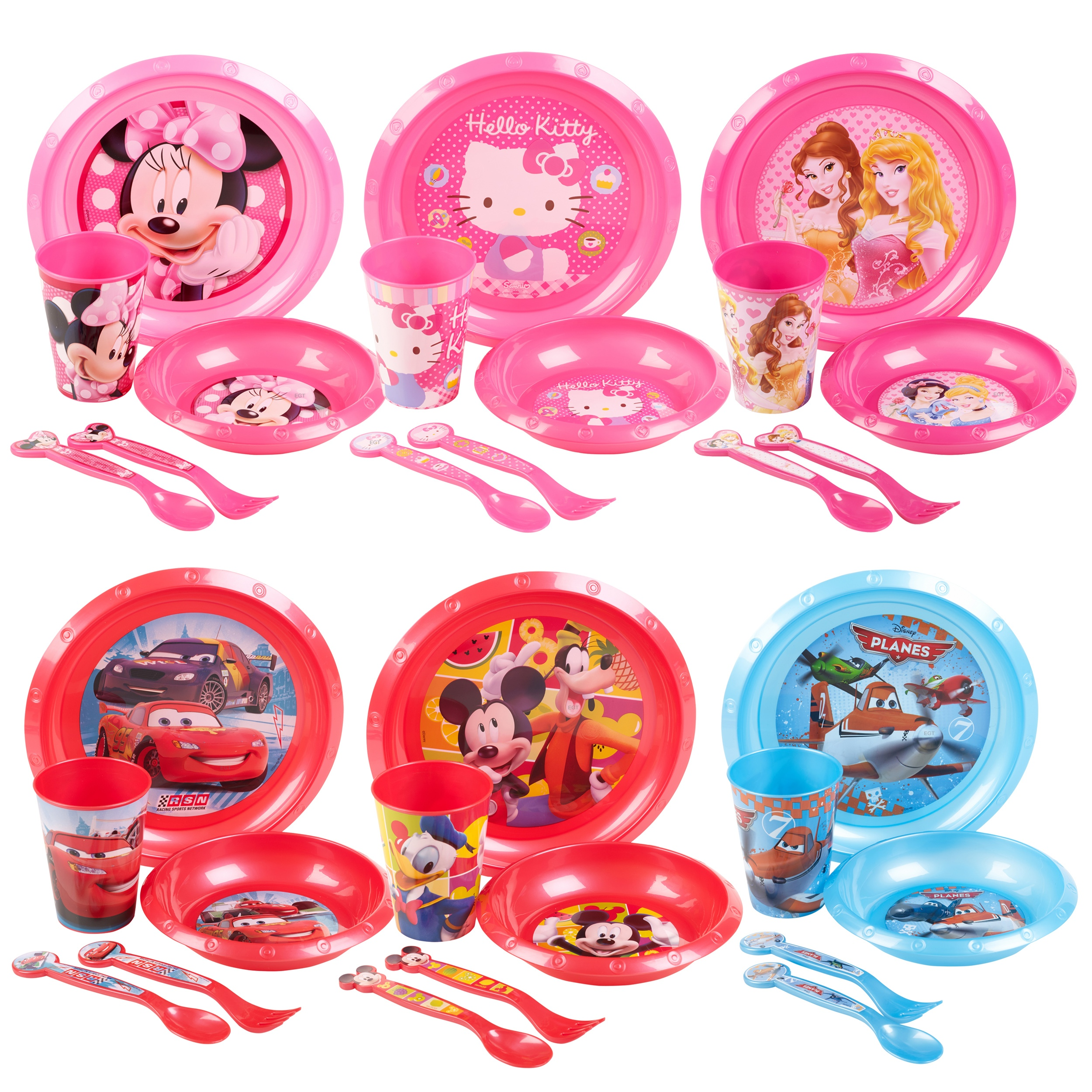 Disney  sc 1 st  eBay & Details about Kids 5 Piece Disney Breakfast Dinner Lunch Supper Plate Bowl Cup Childrenu0027s Set