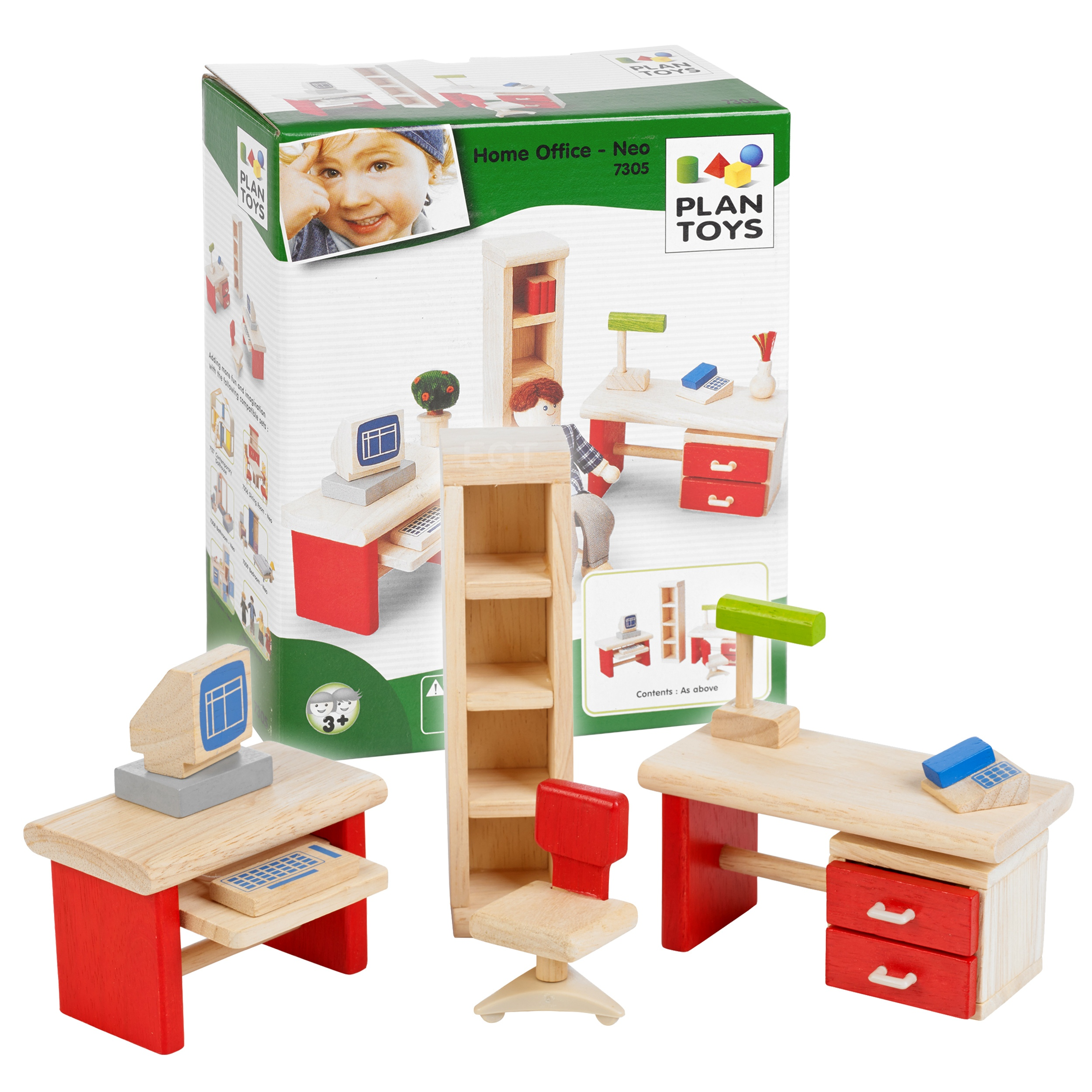 Plan toys wooden home office