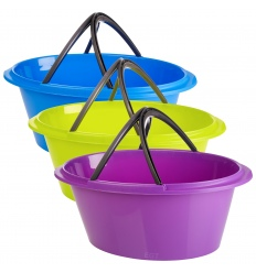 large 50 litre laundry bucket with handles