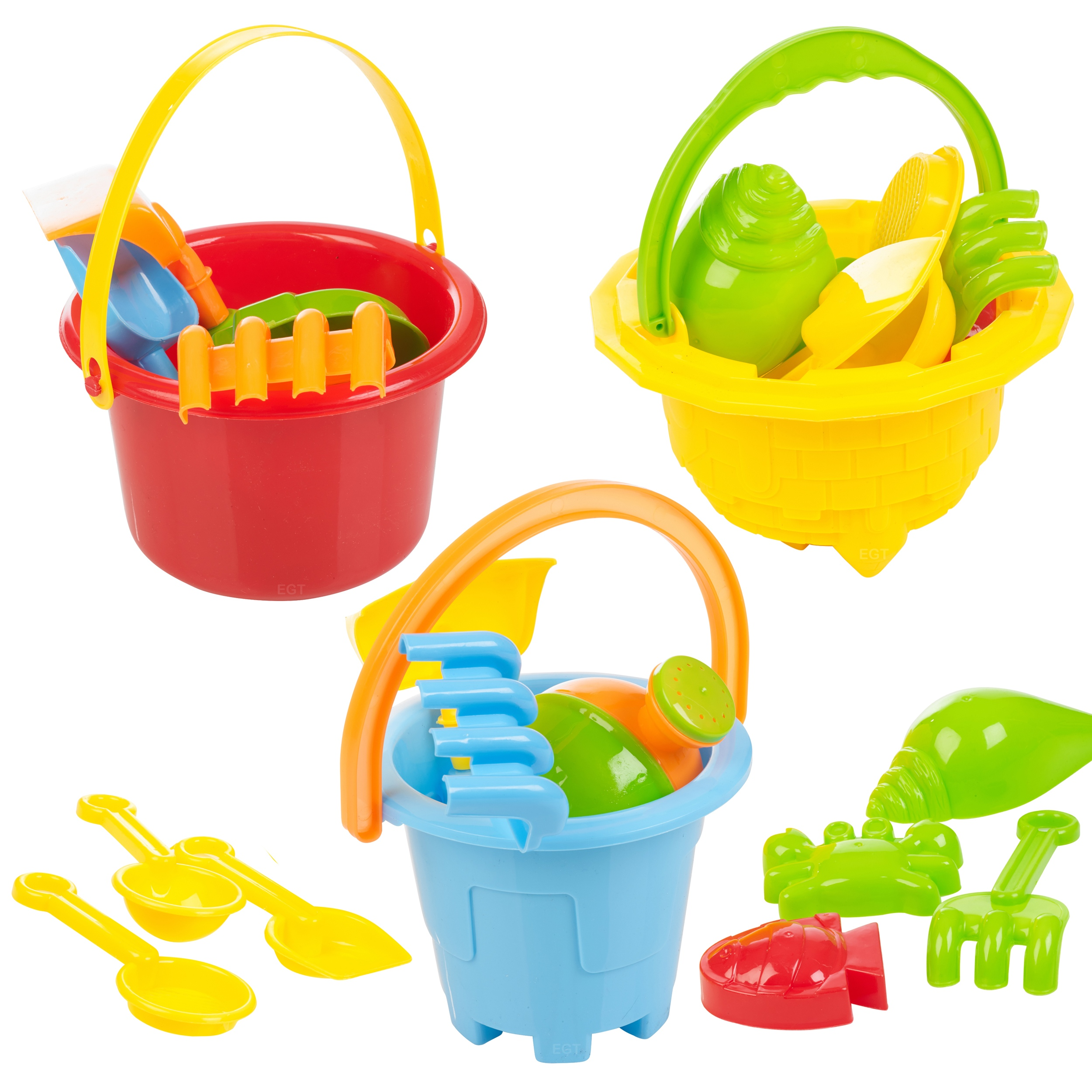 Details about Sand Castle Bucket amp; Spade Kids Beach Seaside Play Water
