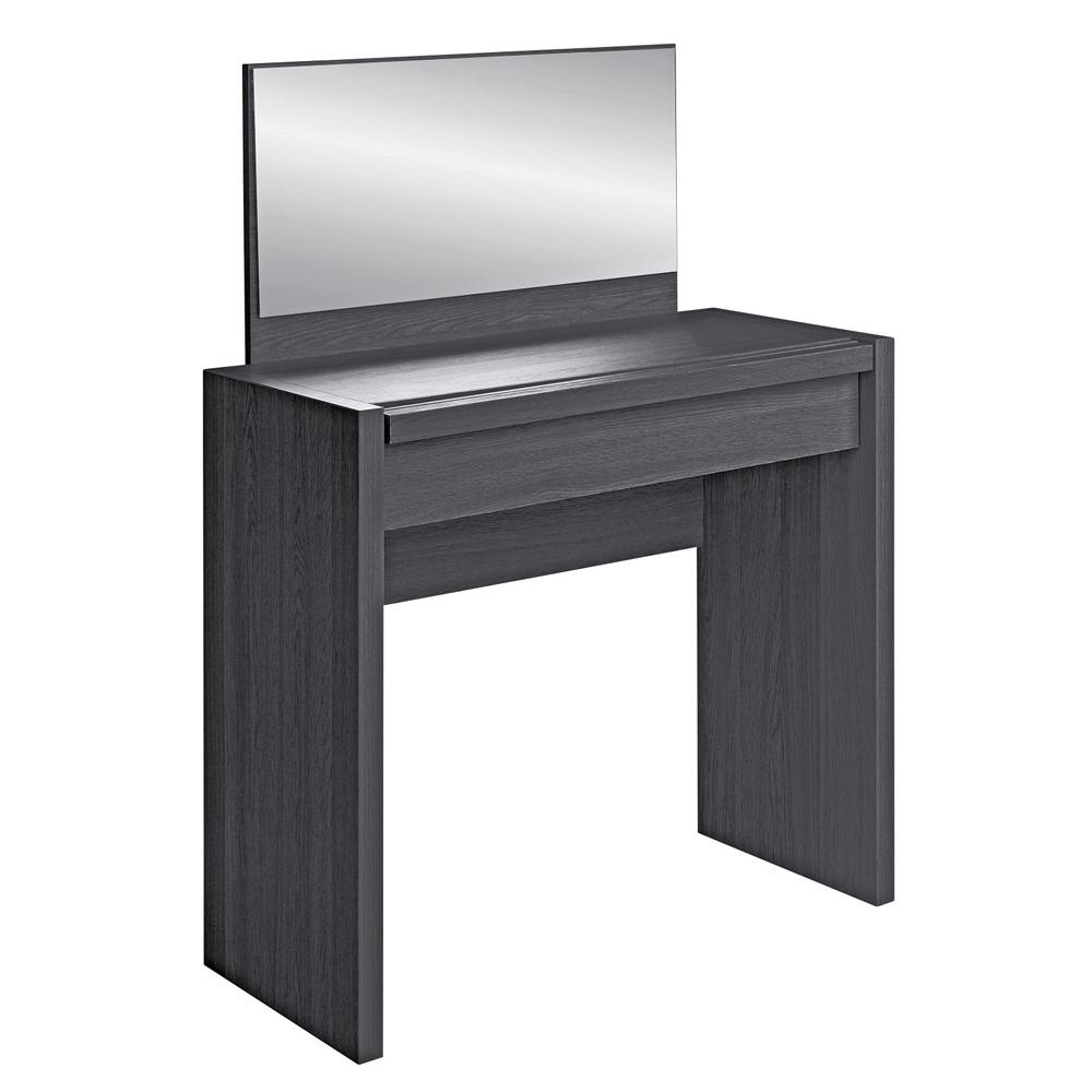 San diego black dresser mirror dressing table bedroom for Wide dressing table