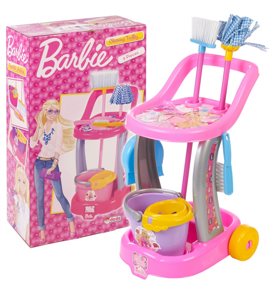 barbie bathroom cleaning games cleaning trolley 01970 10416