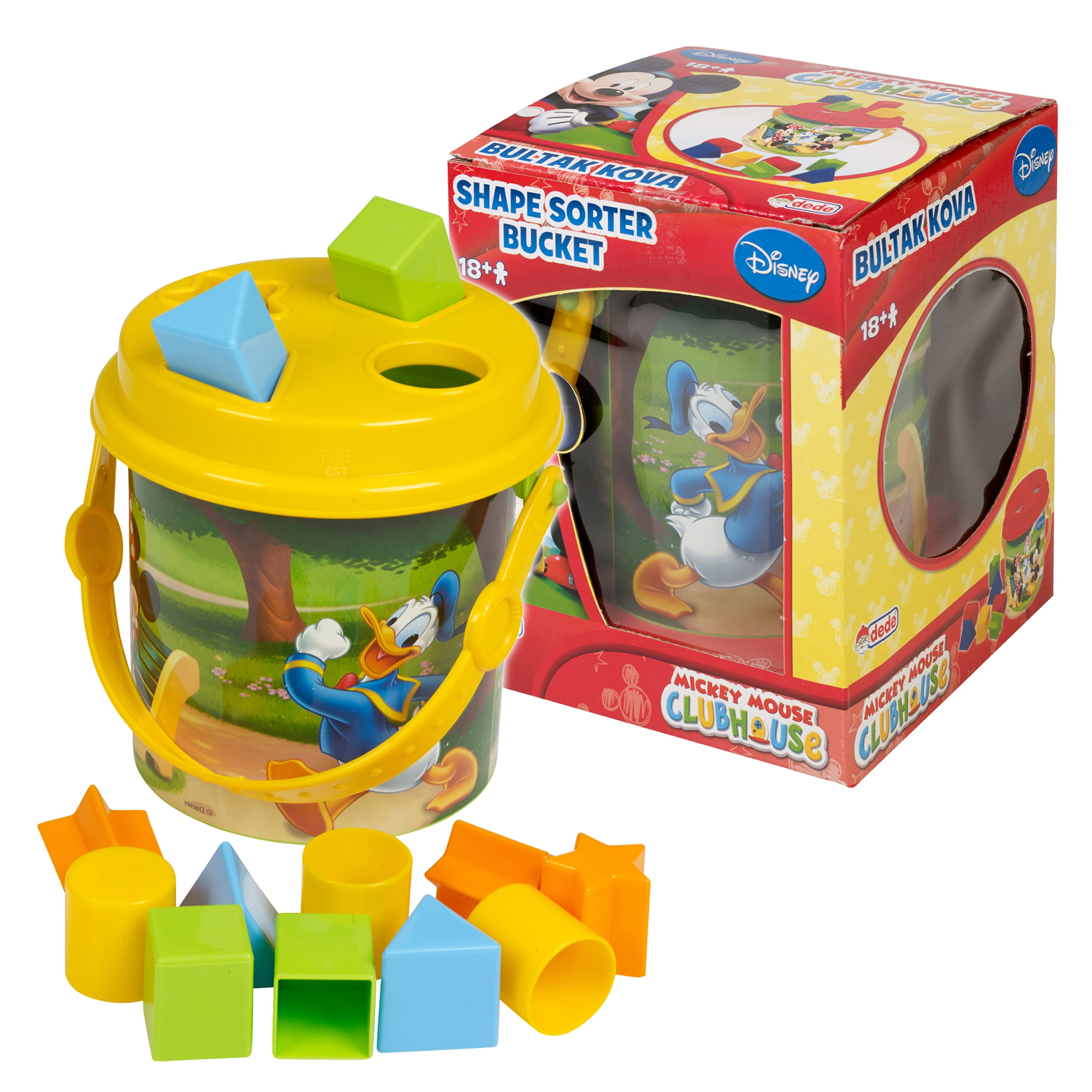 Disney Mickey Mouse Shape Sorter Bucket Baby Toy Toddler ...
