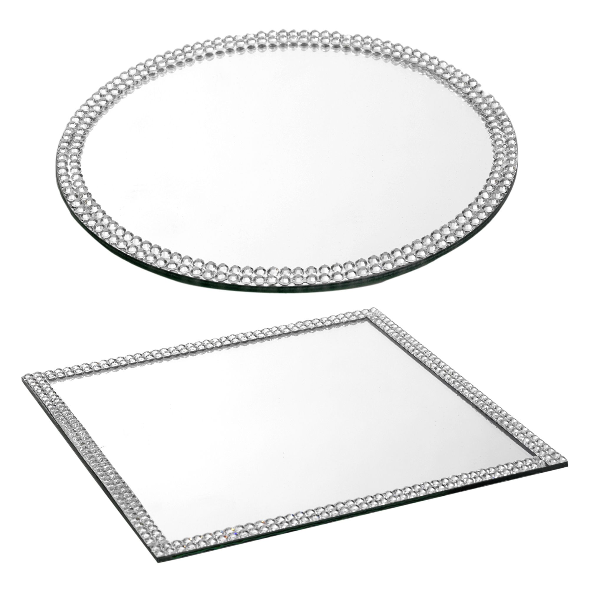 Glass mirror plates table decoration centrepiece base for Glass and mirror company
