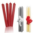 Set of 4 Christmas Dinner Candles [529240]