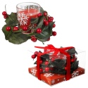 Gift Boxed Christmas Wreath Candle [904016]