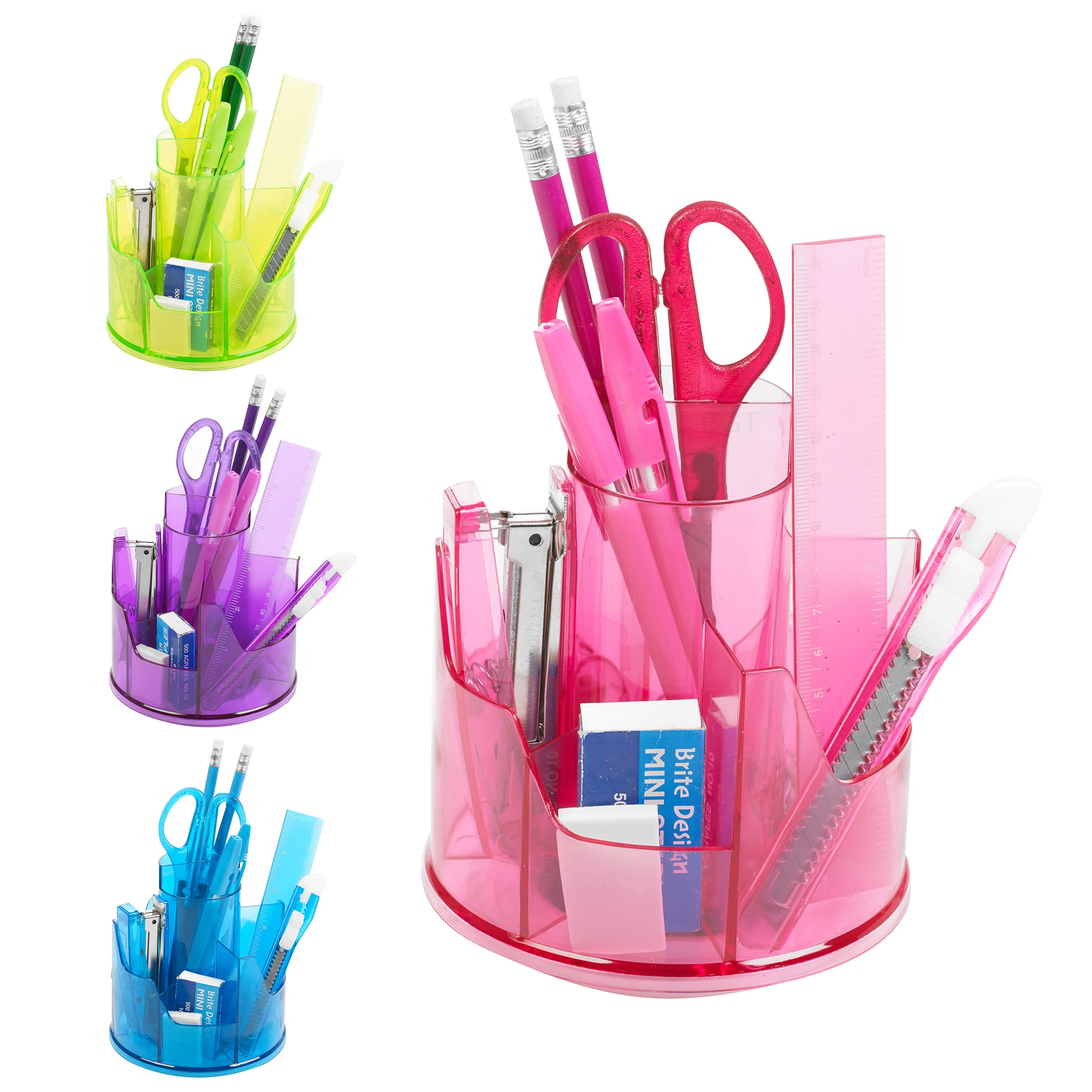 13pc Office Stationery Organiser Set Rotating Desk Tidy Pen Holder Accessory Pot Ebay