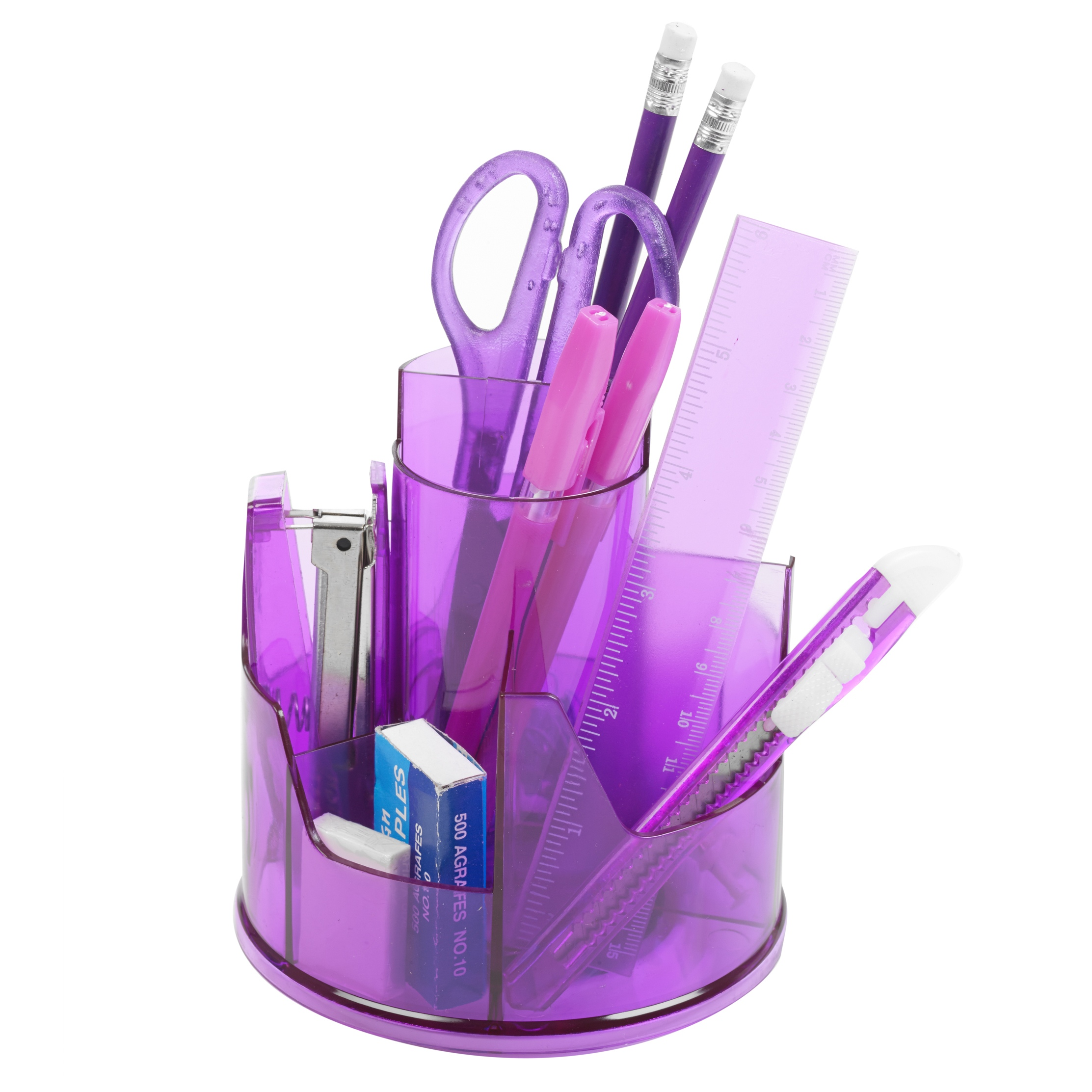 Details about 43pc Office Stationery Organiser Set Rotating Desk Tidy Pen  Holder Accessory Pot
