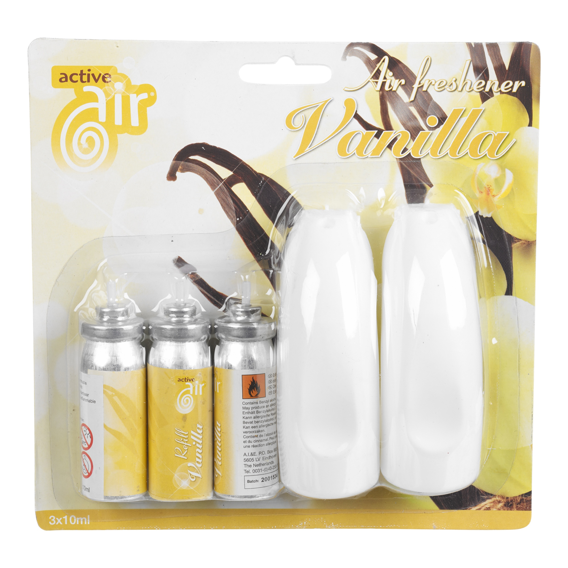 Active Air: 2 x Air Freshener Spray & 3 Refills Scent Home ...