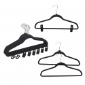 12 x Flocked Non-Slip Space Saving Clothes Hangers