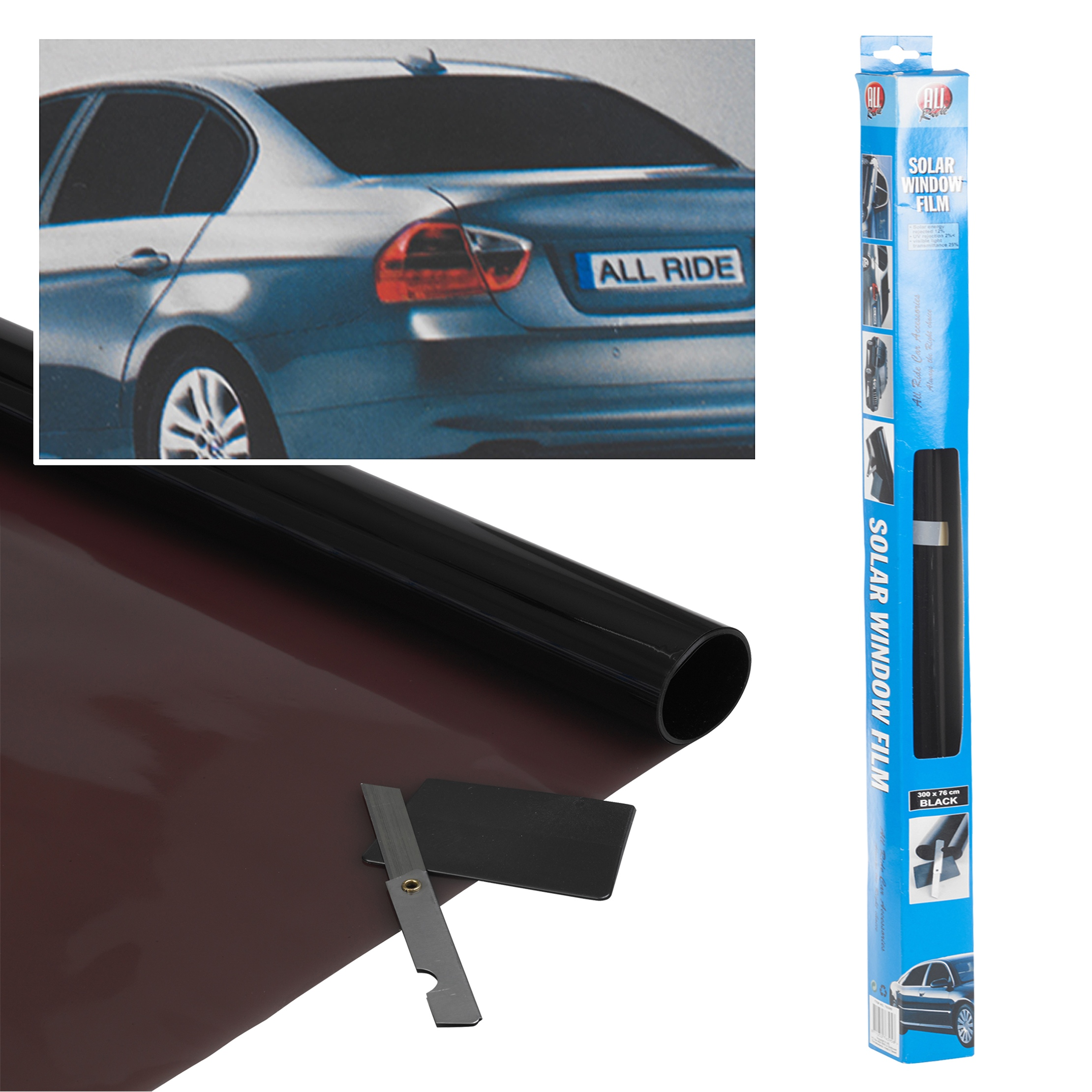Solar Window Film >> Details About Ultra Dark Black Tint Car Limo Van Window Film Reduce Solar Sun Glare 300 X 50cm