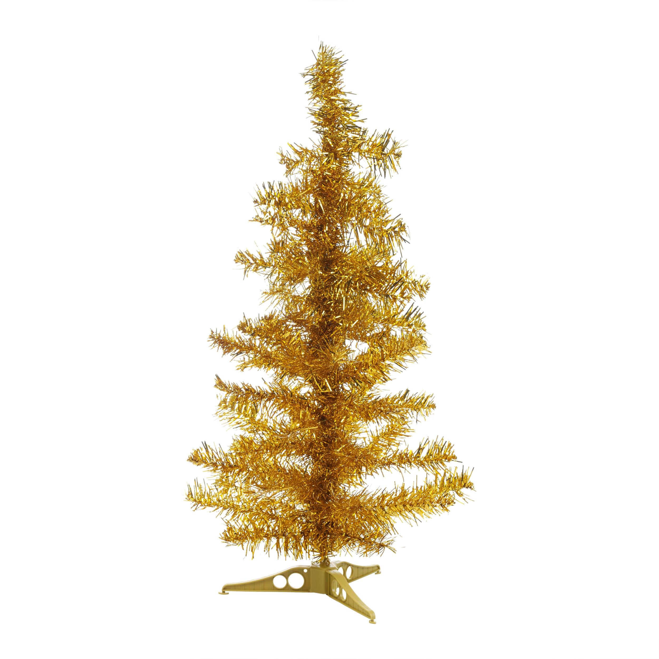 Tinsel Christmas Tree: Christmas Tinsel Tree Xmas Window Decoration Ornament