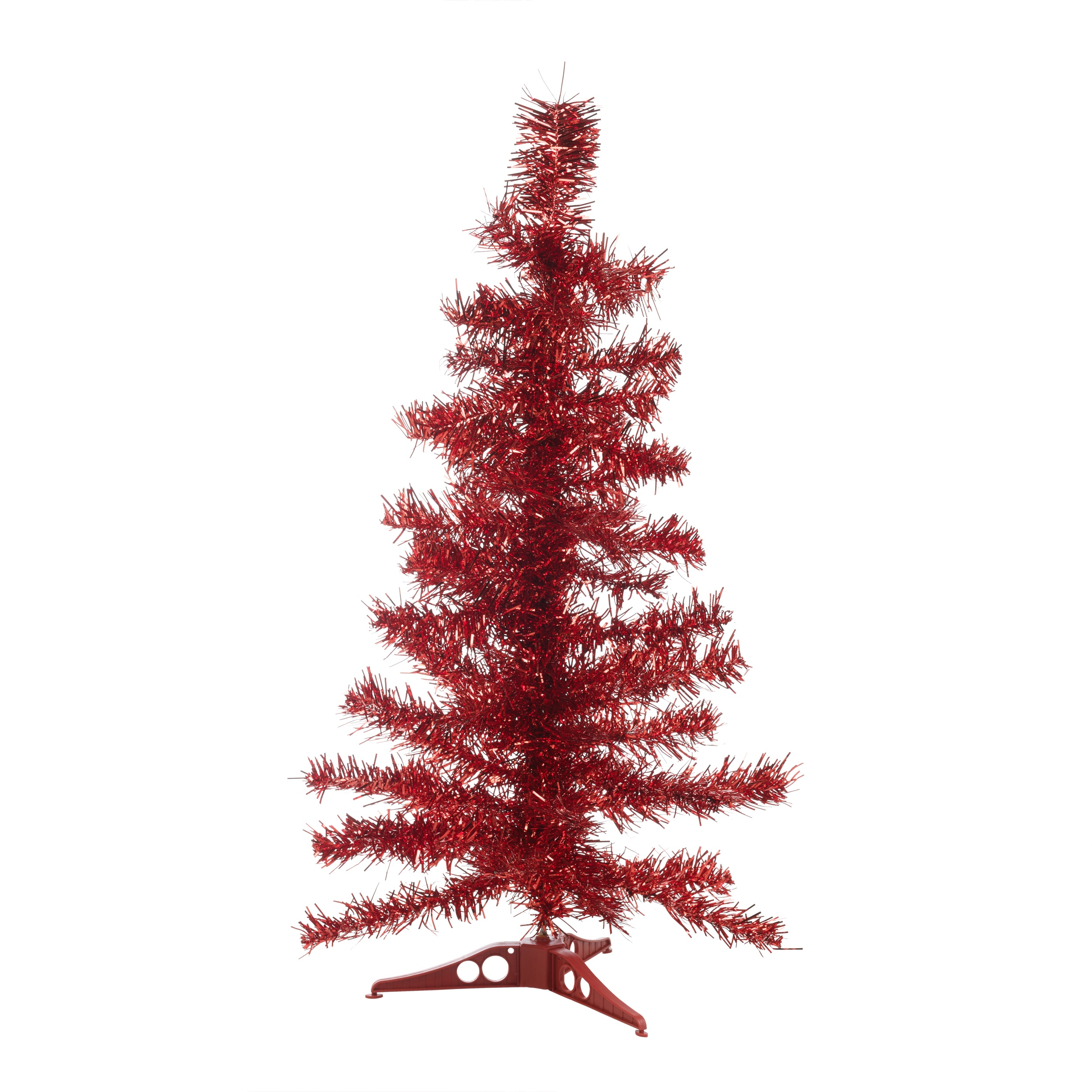 Christmas tinsel tree xmas window decoration ornament
