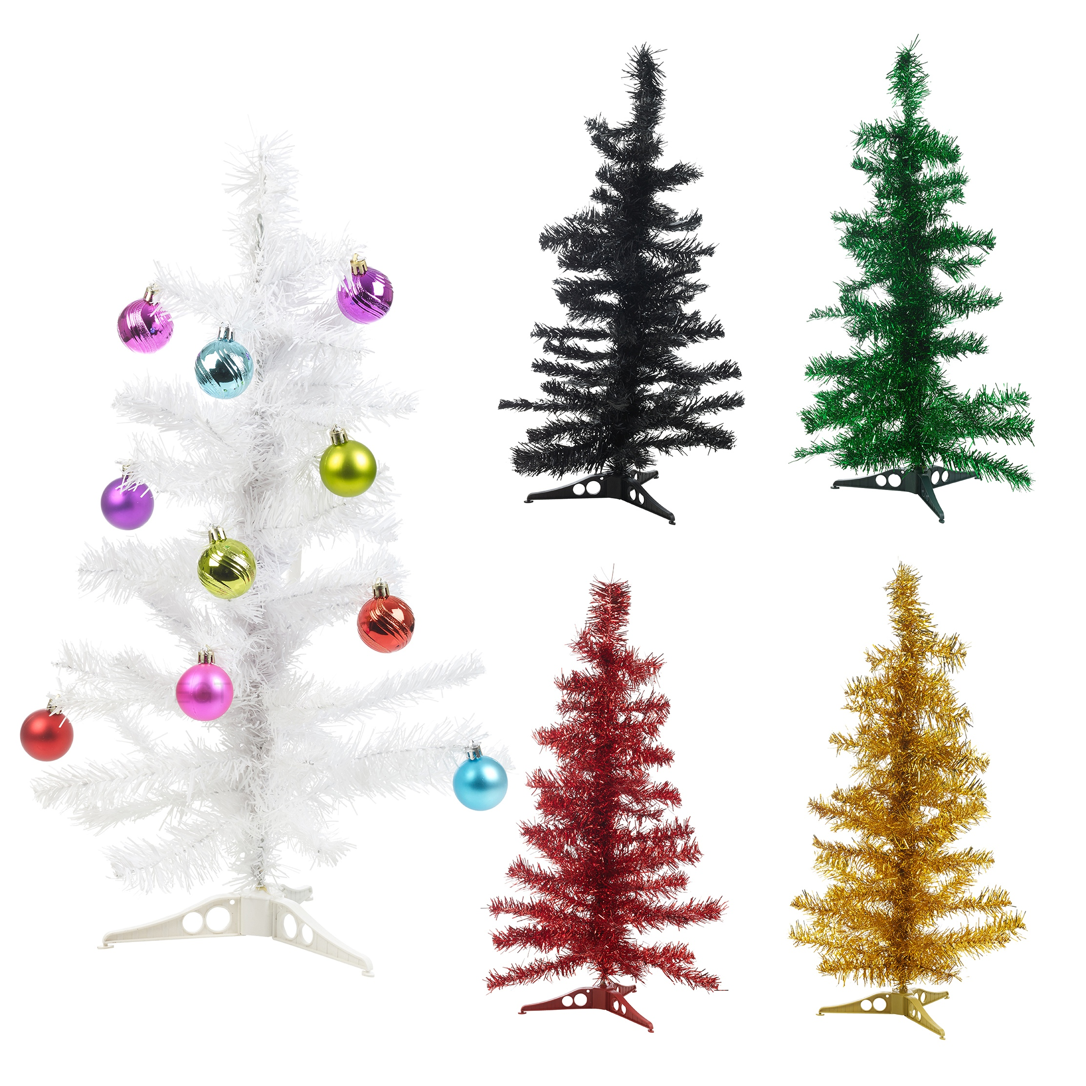 Christmas Tinsel Tree Xmas Window Decoration Ornament ...