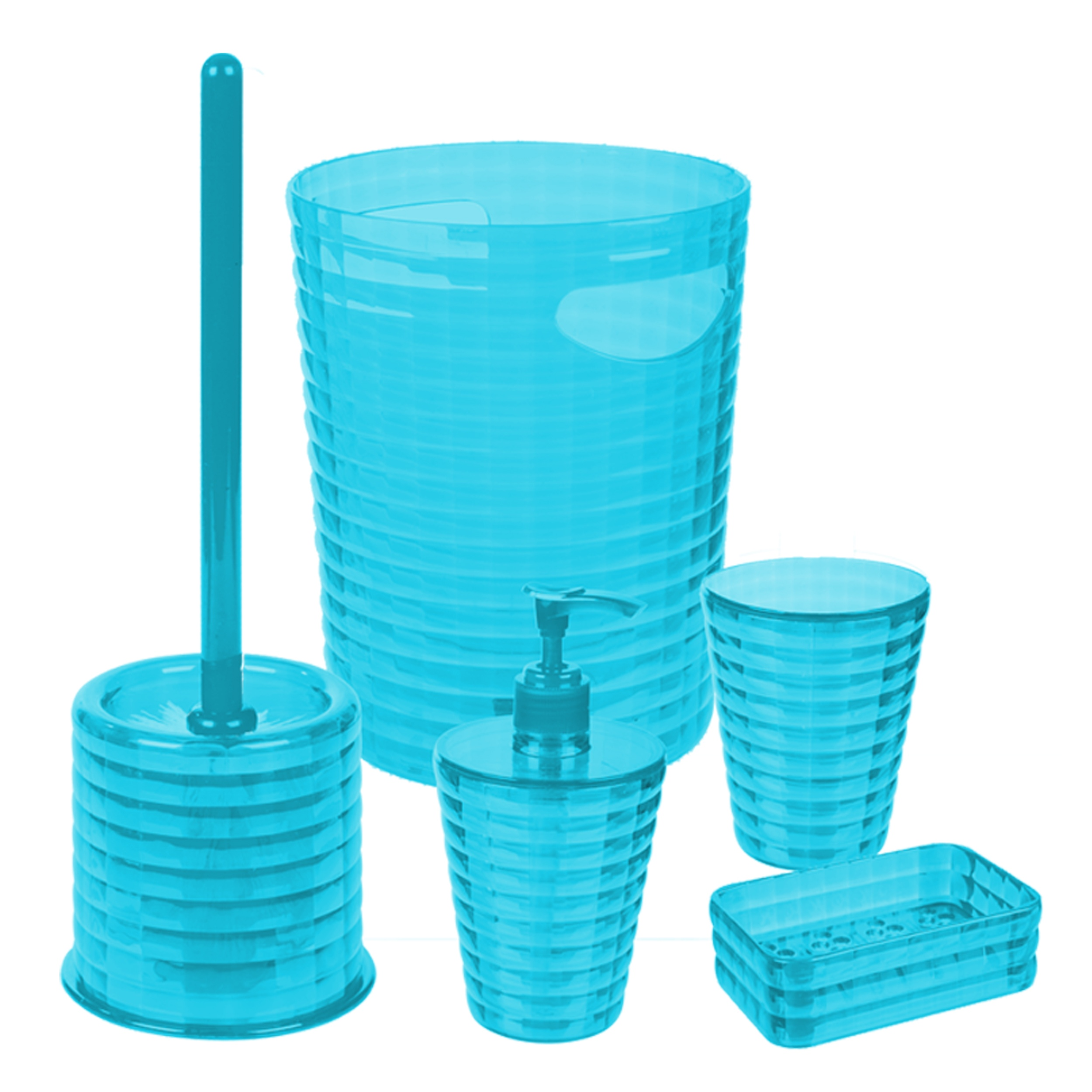 aqua coloured bathroom accessories. Item Specifics 5pc Colour Match Bathroom Accessory Set Soap Dish Dispenser Bin