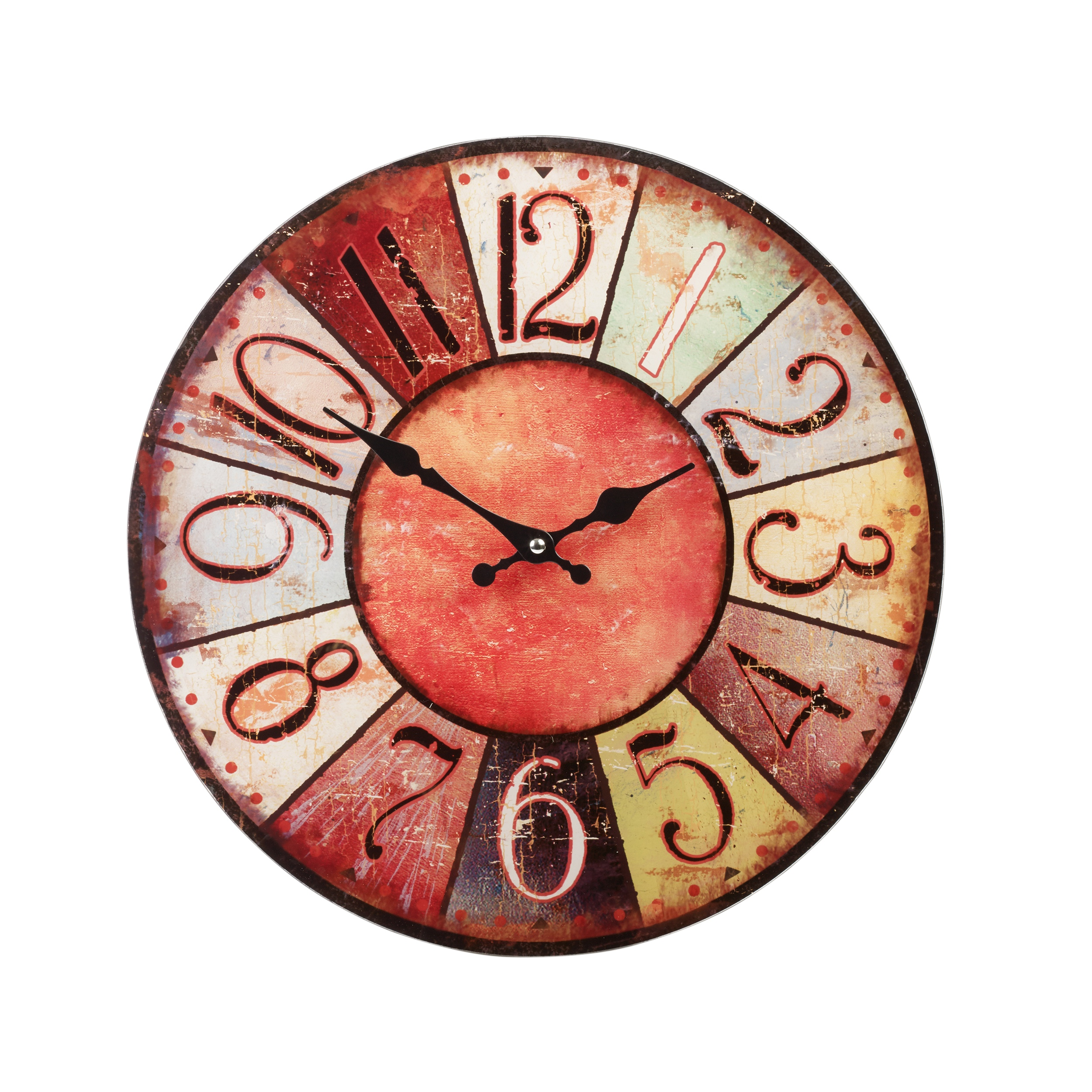 38cm large round glass shabby wall clock vintage retro antique item specifics amipublicfo Gallery