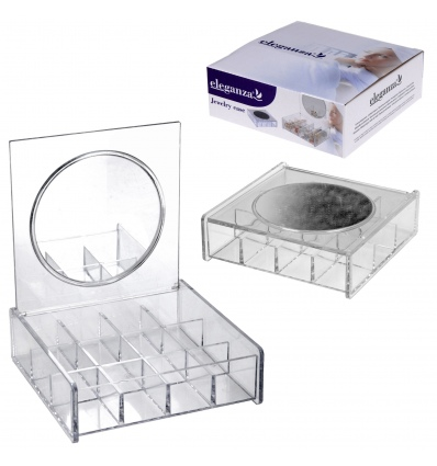 12 Compartment Organiser With Mirror 907608