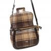 Kerr Fabric & PU Handbag w/Clasp