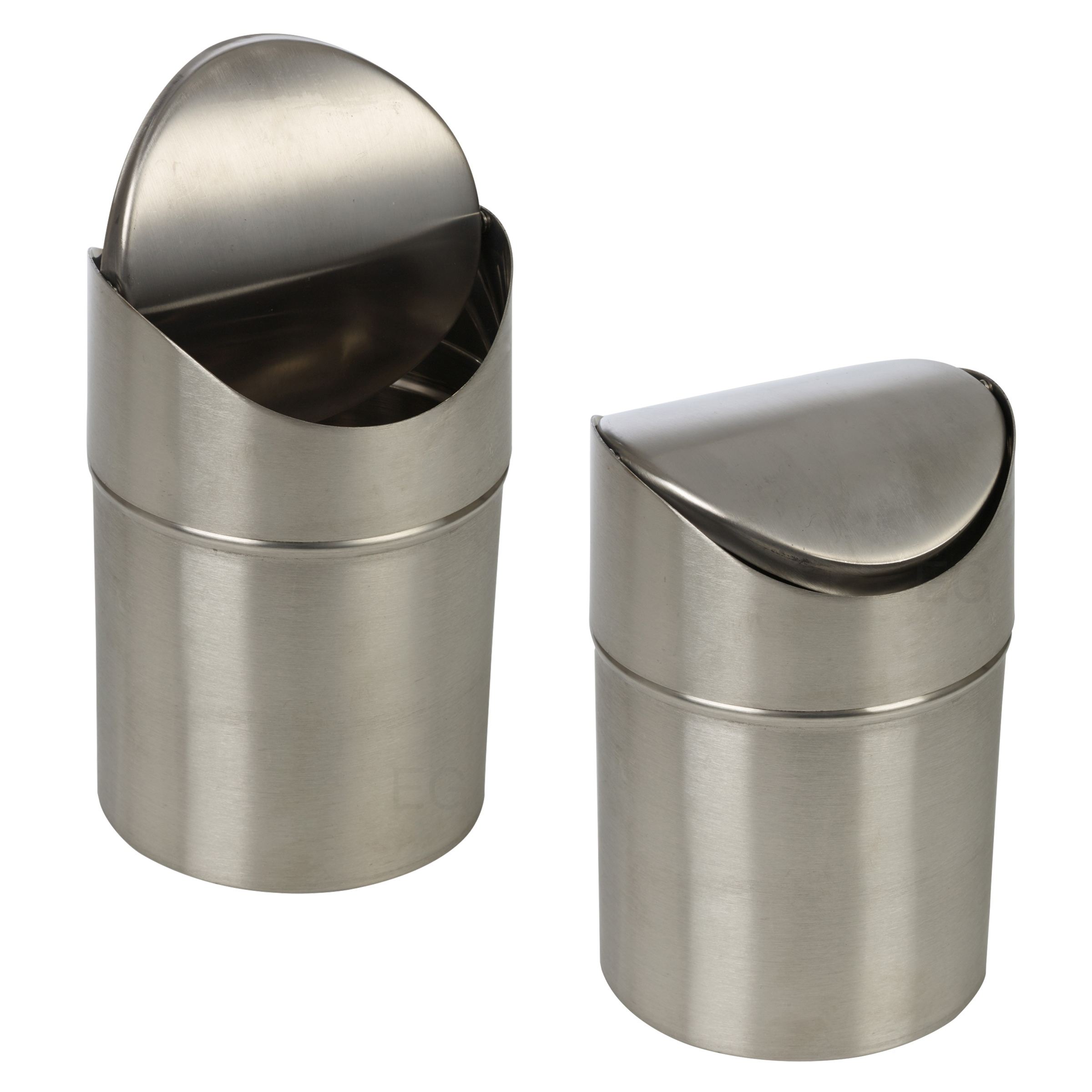 Stainless Steel 1 5l Small Recycling Bin Swing Lid Kitchen