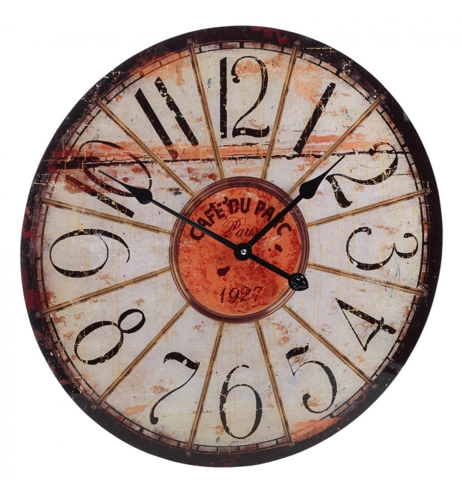Shabby Chic 57cm Glass Wall Clock [306890]