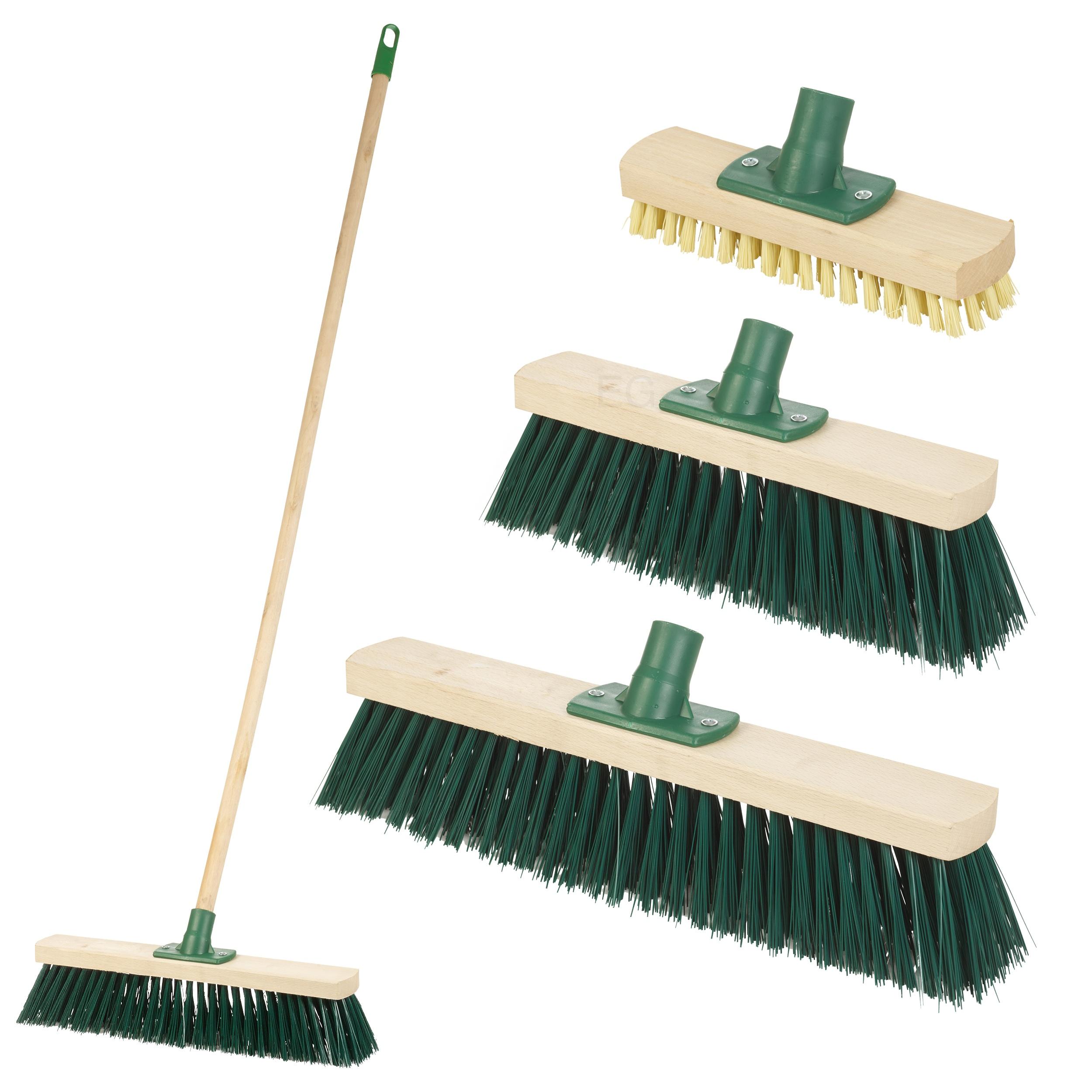 Wooden Broom Handle Stick Replacement Sweeping Brush Mop Clean Floor Garden