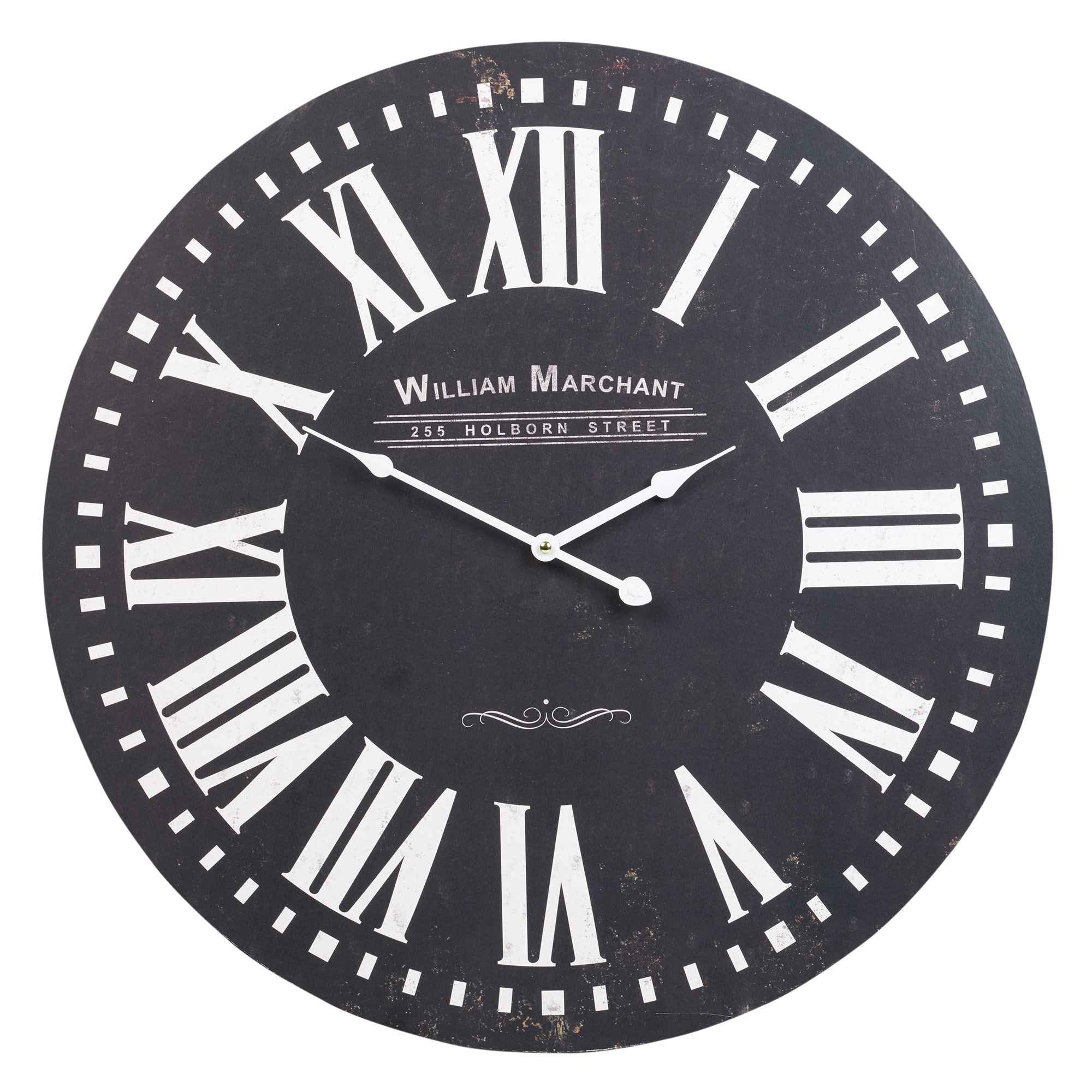 60cm extra large round wooden wall clock vintage retro. Black Bedroom Furniture Sets. Home Design Ideas