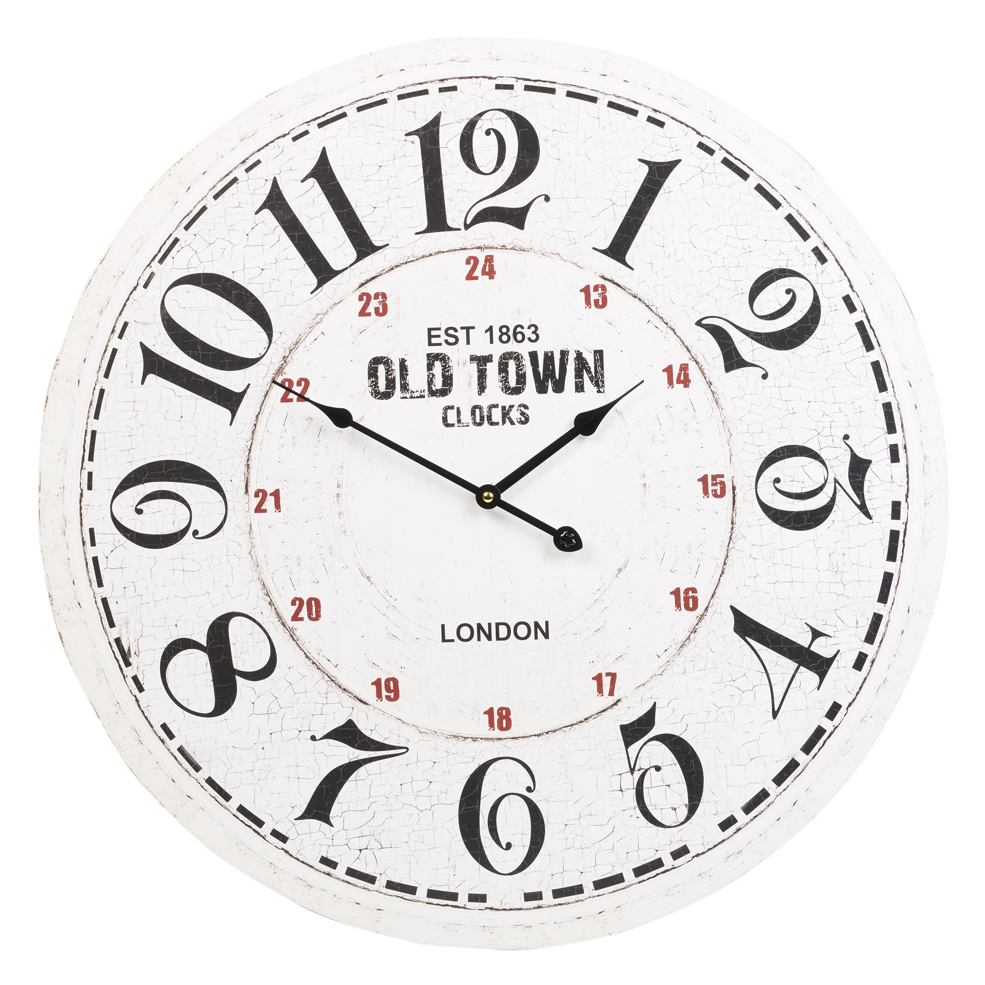60cm Extra Large Round Wooden Wall Clock Vintage Retro ...