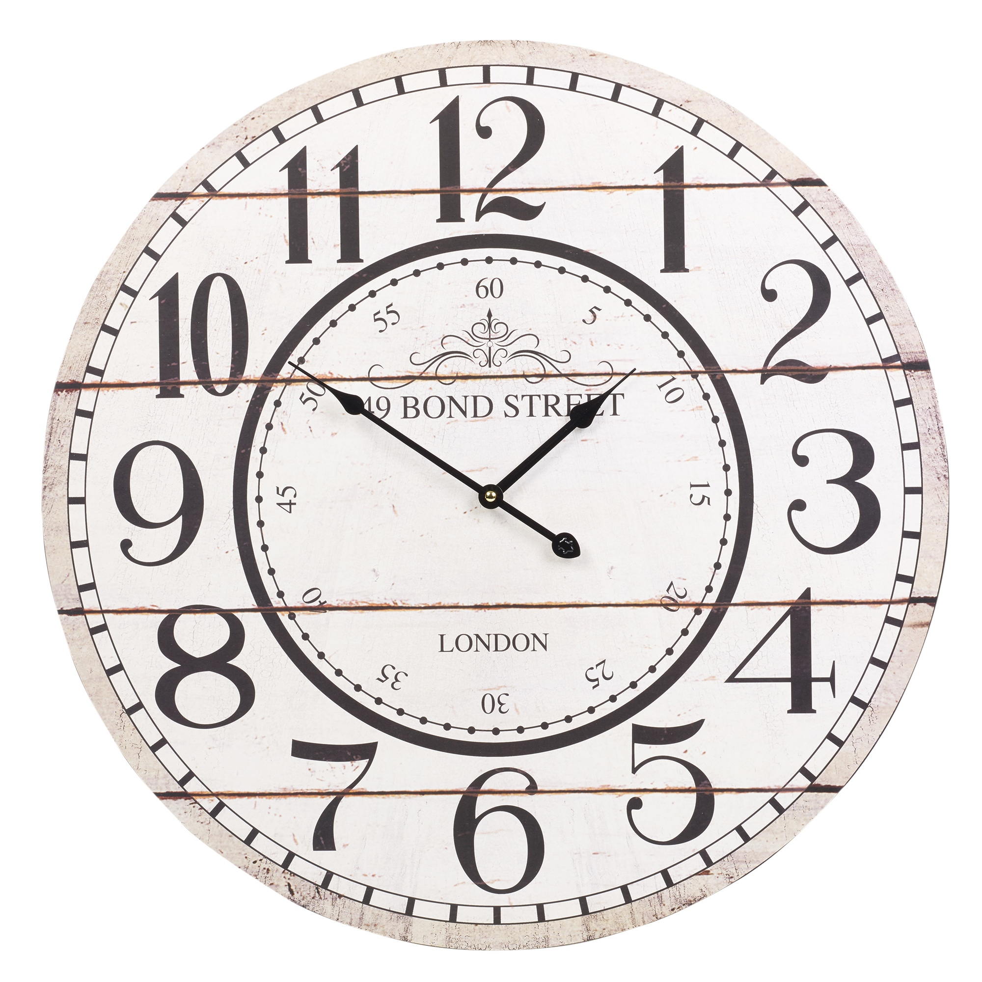 60cm extra large round wooden wall clock vintage retro for Large wall clock uk