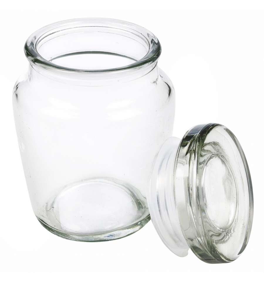 Airtight Small Glass Storage Jar With Lid 572999