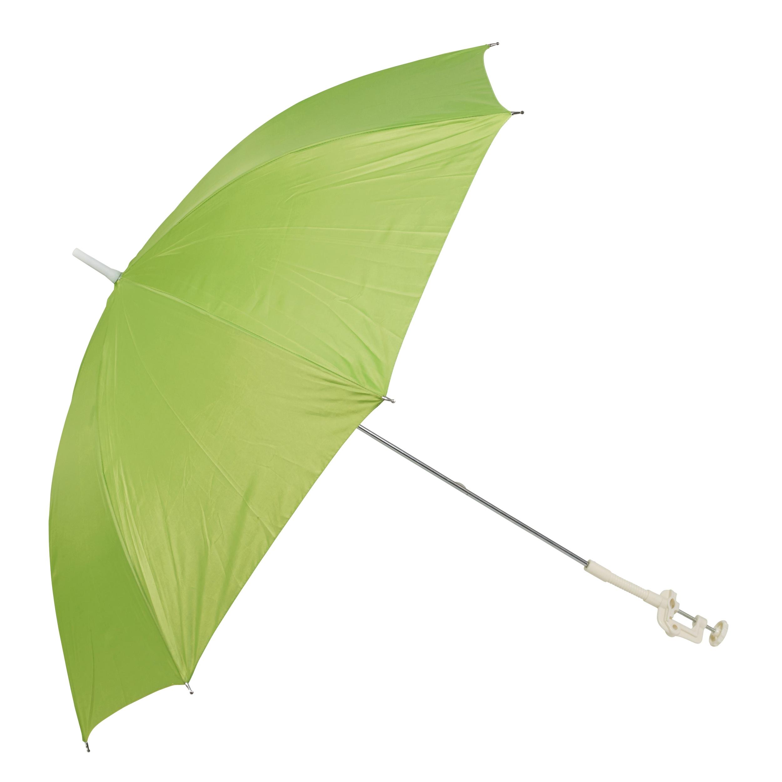 Screw Clamp Garden Beach Deck Chair Parasol Sunshade Sun UV Protection Umbrella