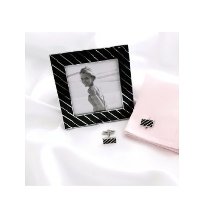 Photo Picture Frame & Matching Cufflinks
